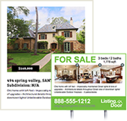 Create vibrant for sale by owner marketing and signage