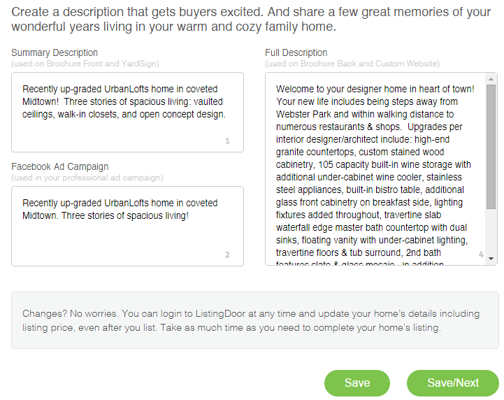 sell by owner - ListingDoor makes it easy to get buyers excited
