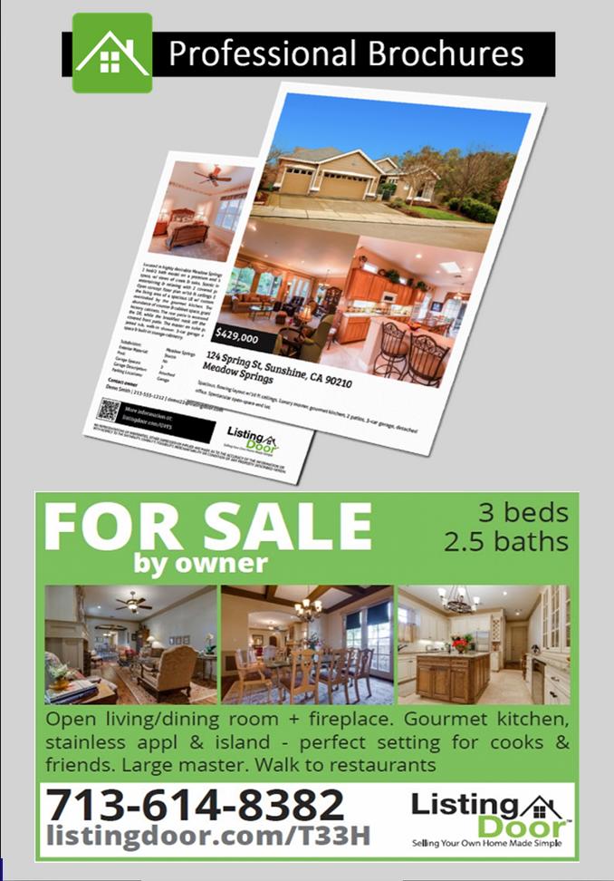 diy listing and brochure marketing kits